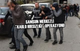 """Samsun Merkezli """"Kablo Hırsızlığı""""..."""
