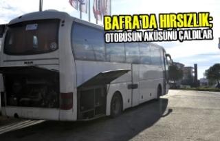 Bafra'da Hırsızlık; Otobüsün Aküsünü Çaldılar