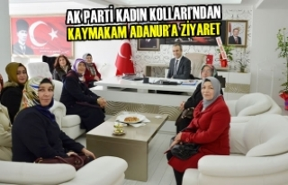 AK Parti Kadın Kolları'ndan Kaymakam Adanur'a...