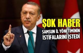 AK Parti Samsun İl Yönetiminin İstifaları İstendi