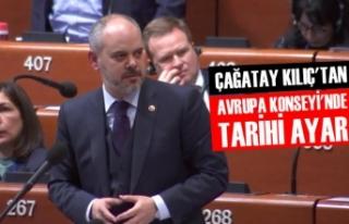 Akif Çağatay Kılıç'tan Avrupa Konseyi'nde...