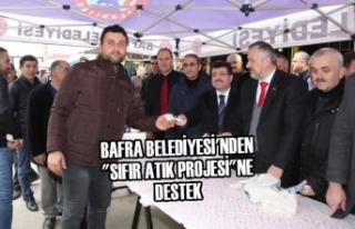 """Bafra'da """"Sıfır Atık Projesi""""ne..."""