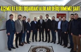 Bafra GİAD'tan Kaymakamı Ahmet Adanur'a Ziyaret