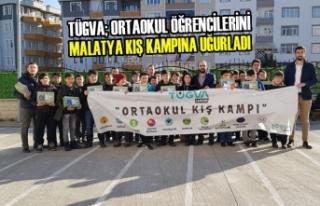 Bafra TÜGVA; Öğrencileri Malatya Kış Kampına...