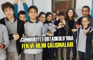Cumhuriyet Ortaokulu'nda Fen ve Bilim Çalışmaları