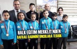 Halk Eğitim Merkezi'nden Bafralı Badmintonculara...