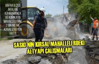 SASKİ'den Kırsal Mahallelerde Altyapı Çalışmaları