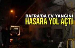 Bafra'da Ev Yangını Hasara Yol Açtı