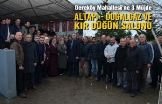 Başkan Topaloğlu'ndan Dereköy Mahallesi'ne...