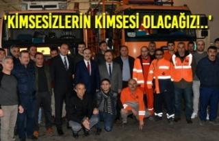 Başkan Zihni Şahin, Karayolları İşçileriyle...