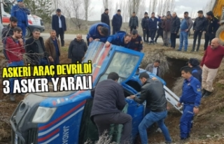 Çorum'da Askeri Araç Devrildi: 3 Yaralı