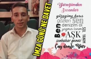 Engelli Yazar Mert Can Çelebi'den İmza Gününe...
