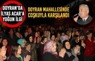 MHP'li İlyas Acar'a Doyran'da Yoğun İlgi
