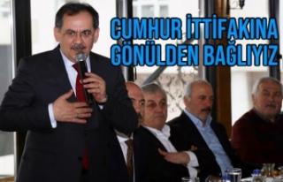 Mustafa Demir; Cumhur İttifakına Gönülden Bağlıyız