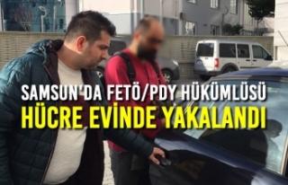 Samsun'da FETÖ/PDY Hükümlüsü Hücre Evinde...