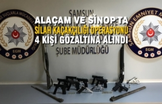 Samsun Merkezli Silah Kaçakçılığı Operasyonu:...