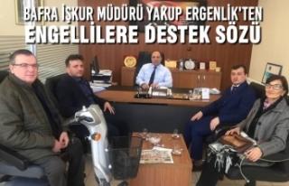 Bafra İşkur Müdürü Yakup Ergenlik'ten Engellilere...