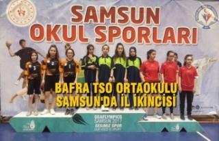 Bafra TSO Orta Okulu Samsun'da İl İkincisi...