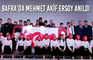 Bafra'da Mehmet Akif Ersoy Anma Programı İlgi...