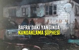 Bafra'daki Yangında Kundaklama Şüphesi