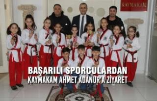 Başarılı Sporculardan Kaymakam Ahmet Adanur'a...
