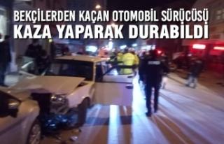 Bekçilerden Kaçan Otomobil Sürücüsü, Kaza Yaparak...