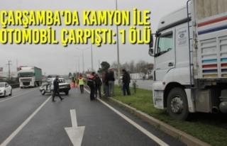 Çarşamba'da Kamyon İle Otomobil Çarpıştı:...