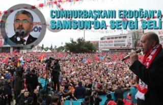Cumhurbaşkanı Erdoğan'a Samsun'da Sevgi...