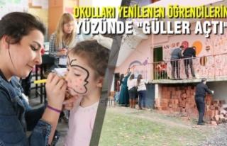 """Okulları Yenilenen Öğrencilerin Yüzünde """"Güller..."""