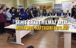 Şehit Erkut Yılmaz MTAL Muhasebe Haftasını Kutladı