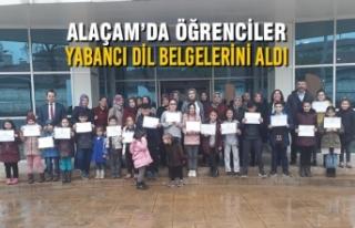Alaçam'da Öğrenciler Yabancı Dil Belgelerini...