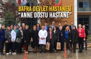"""Bafra Devlet Hastanesi; """"Anne Dostu Hastane"""""""