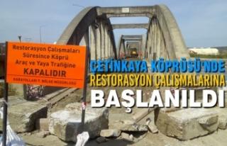 Çetinkaya Köprüsü'nde Restorasyon Çalışmalarına...