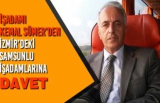 İşadamı Kemal Sümer'den İzmir'deki Samsunlu...