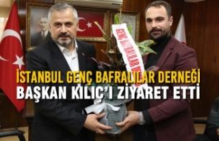 İstanbul Genç Bafralılar Derneği Başkan Kılıç'ı...