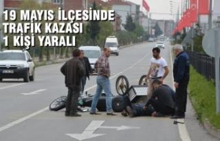 19 Mayıs İlçesinde Trafik Kazası; 1 Yaralı