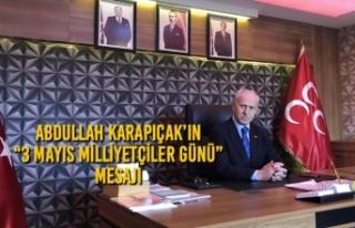 """Abdullah Karapıçak'ın """"3 Mayıs Milliyetçiler..."""