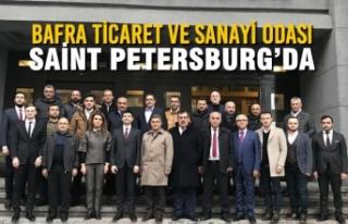 Bafra Ticaret ve Sanayi Odası Üyeleri ile Petersburg'da