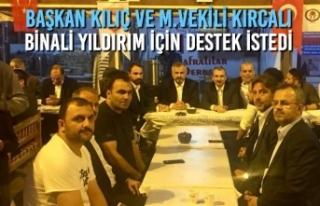 Başkan Kılıç ve M.Vekili Kırcalı, Binali Yıldırım...