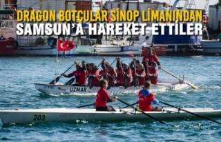 Dragon Botçular Sinop Limanından Samsun'a Hareket...