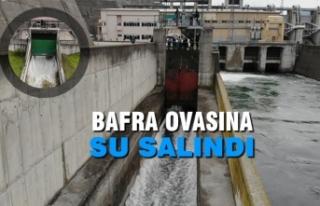 Kapaklar Açıldı, Bafra Ovası'na Su Salındı