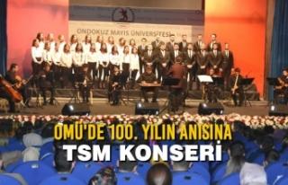 OMÜ'de 100. Yılın Anısına TSM Konseri