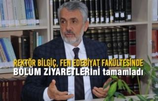 Rektör Bilgiç'ten Fen Edebiyat Fakültesinde Bölüm...
