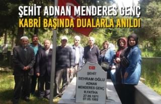 Şehit Adnan Menderes Genç; Kabri Başında Dualarla...