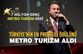 Türkiye'nin En Prestijli Ödülünü Metro Turizm...