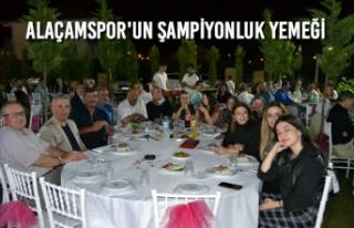 Alaçamspor'un Şampiyonluk Yemeği