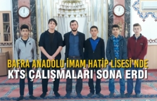Bafra Anadolu İmam Hatip Lisesi'nde KTS Çalışmaları...