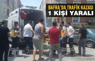 Bafra'da Trafik Kazası:1 Yaralı