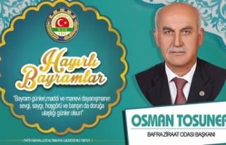 Osman Tosuner'den Ramazan Bayramı Mesajı