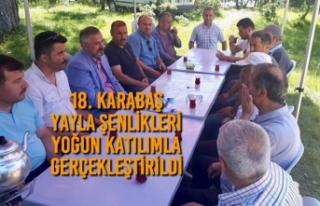 18. Karabaş Yayla Şenlikleri Yoğun Katılımla...